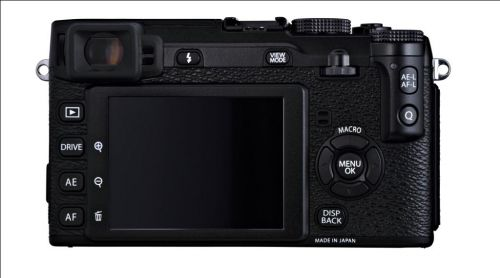 Fujifilm X-E1 Black_back