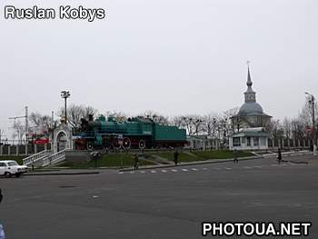 Kovel. Volyn region. Steam locomotive.