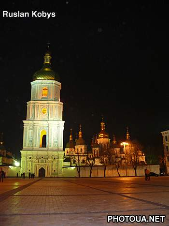 Night Kyiv. Sofiya Cathedral.