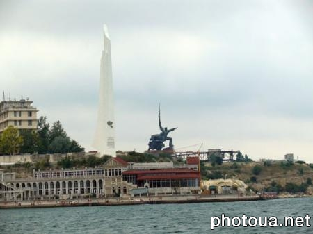 Sevastopol The Obelisk in honour of the Hero-City of Sevastopol on Cape Khrustalny