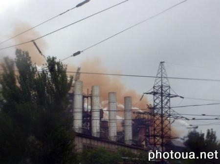 Mariupol Hazardous air pollutant emissions from metallurgical works