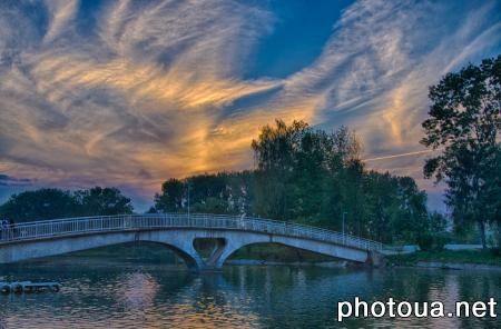Ivano-Frankivsk Bridge in the park