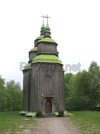 Kyiv. Pyrogovo. Museum of National architecture and life. Wooden church