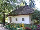 Pereyaslav-Khmelnitsky. museum of Folk Life and Architecture. Ukrainian Peasant House