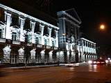 Night Kyiv. Volodymyrska street. The Building of Security Service of Ukraine.