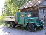 Pereyaslav-Khmelnitsky. museum of Folk Life and Architecture. Old truck