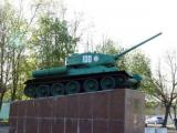 Ovruch.  Zhitomir region. Monument to Soviet tank drivers