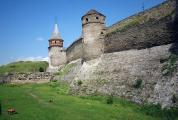 Kamianets-Podilskyi Fortress wall with towers