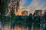 Ivano-Frankivsk Sunset at the city lake
