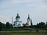 Village Lemeshi. Chernigiv region. Three Saints church