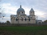 A church is in the mud flow of Dolinovka
